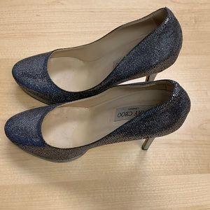 Jimmy Choo Size 39 Silver Glitter Shoes!